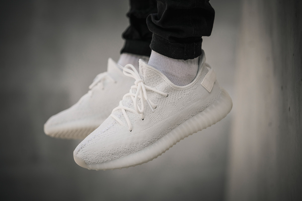 "b3c4535f3 The hotly anticipated adidas YEEZY Boost 350 V2 ""Triple White"" — formerly  released ..."