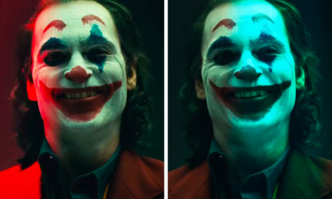 Joaquin Phoenix in Joker Make-Up