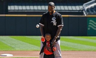 Watch Kanye & Saint West Throw the First Pitch at Chicago White Sox Game