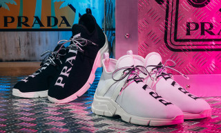 Prada Debuts New Knit Sneakers With Familiar Text Detailing