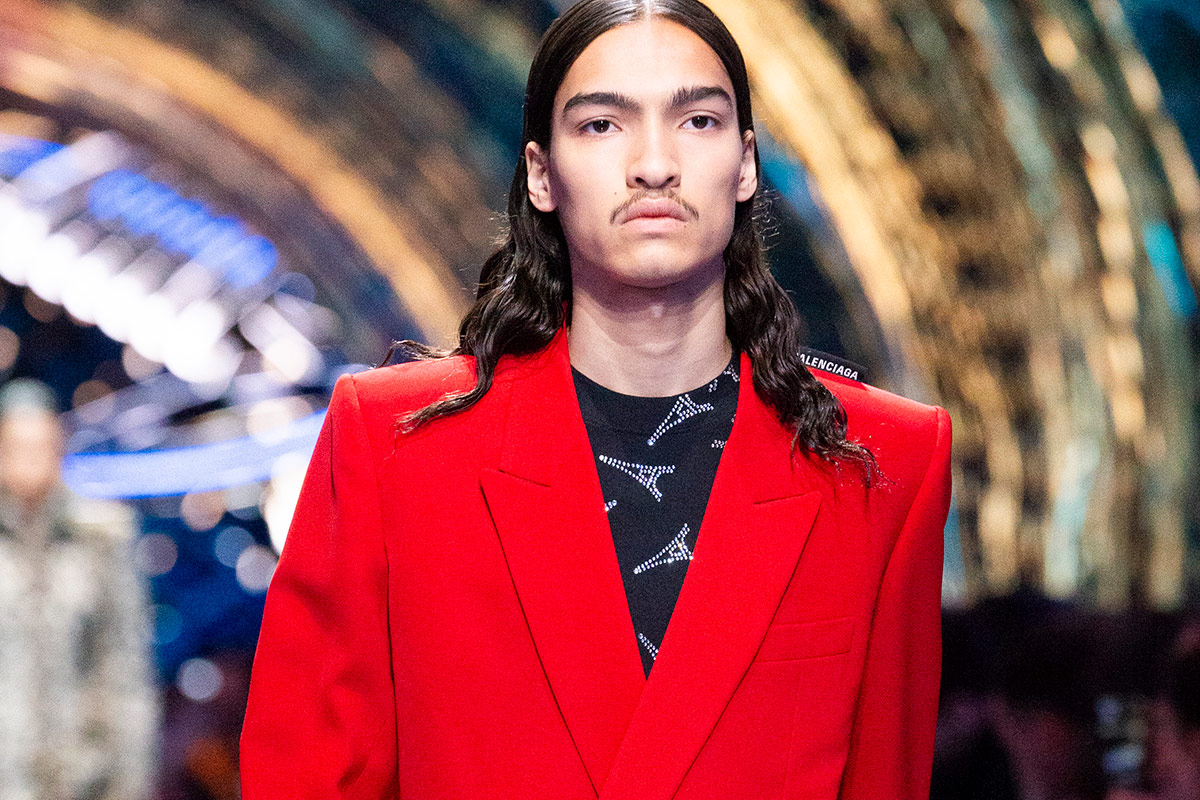 69636bcef Hedi Slimane showed his debut collection with a now-accentless Celine,  pushing skinny suits and flashy dresses and causing many fans and critics  ...