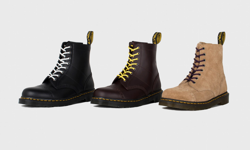 Needles Reworks Dr. Martens' 1460 Boot in Three Colorways