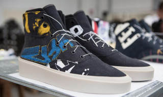 Jerry Lorenzo's Fear of God High Top 101 Sneaker Is Made of Vintage Tees