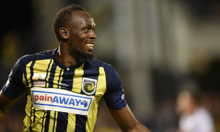 Watch Usain Bolt Score His First Two Goals as a Professional Soccer Player