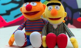 KAWS Unveils a Best Look Yet at Bert & Ernie Plush Toys