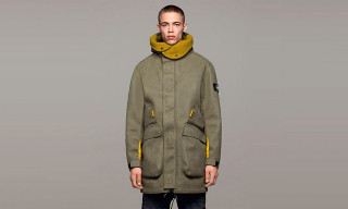Stone Island Debuts a Man Made Suede Parka