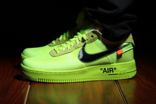 "sale retailer c5e9e ecdf3 OFF-WHITE x Nike Air Force 1 Surfaces in New ""Volt"" Colorway"