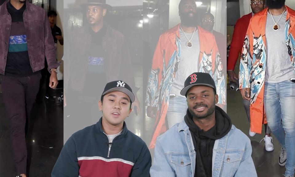 'Ball Boyz' Argue the Best NBA Pre-Game Fits & LeBron James Rocks Supreme x CDG x Nike AF1