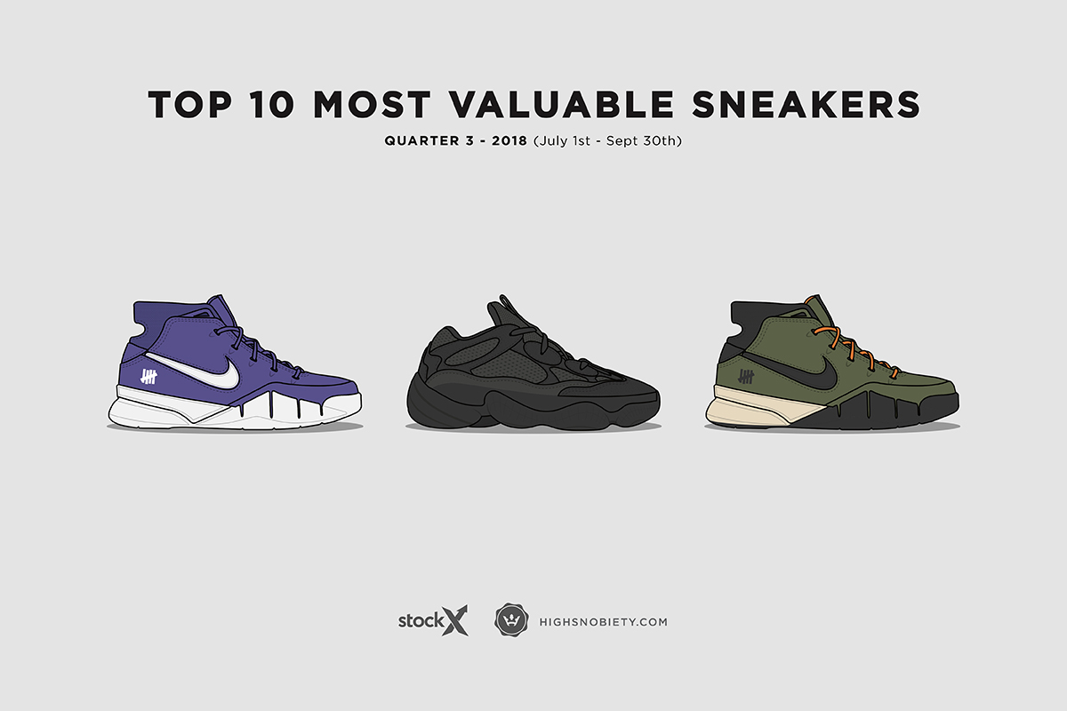 StockX Says These are the 10 Most Valuable Sneakers on the