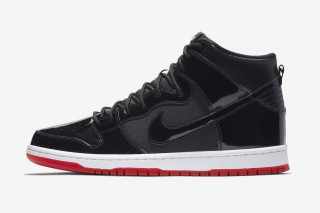 "Nike SB s Dunk High Returns in Air Jordan 11 ""Bred""-Inspired Makeover bf9852676"
