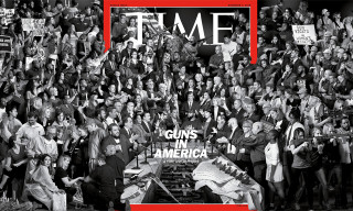 "'TIME' Enlists Parisian Artist JR for ""Guns in America"" Issue"
