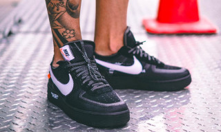 On-Foot Pictures of the OFF-WHITE x Nike Air Force 1 in Black Surface Online