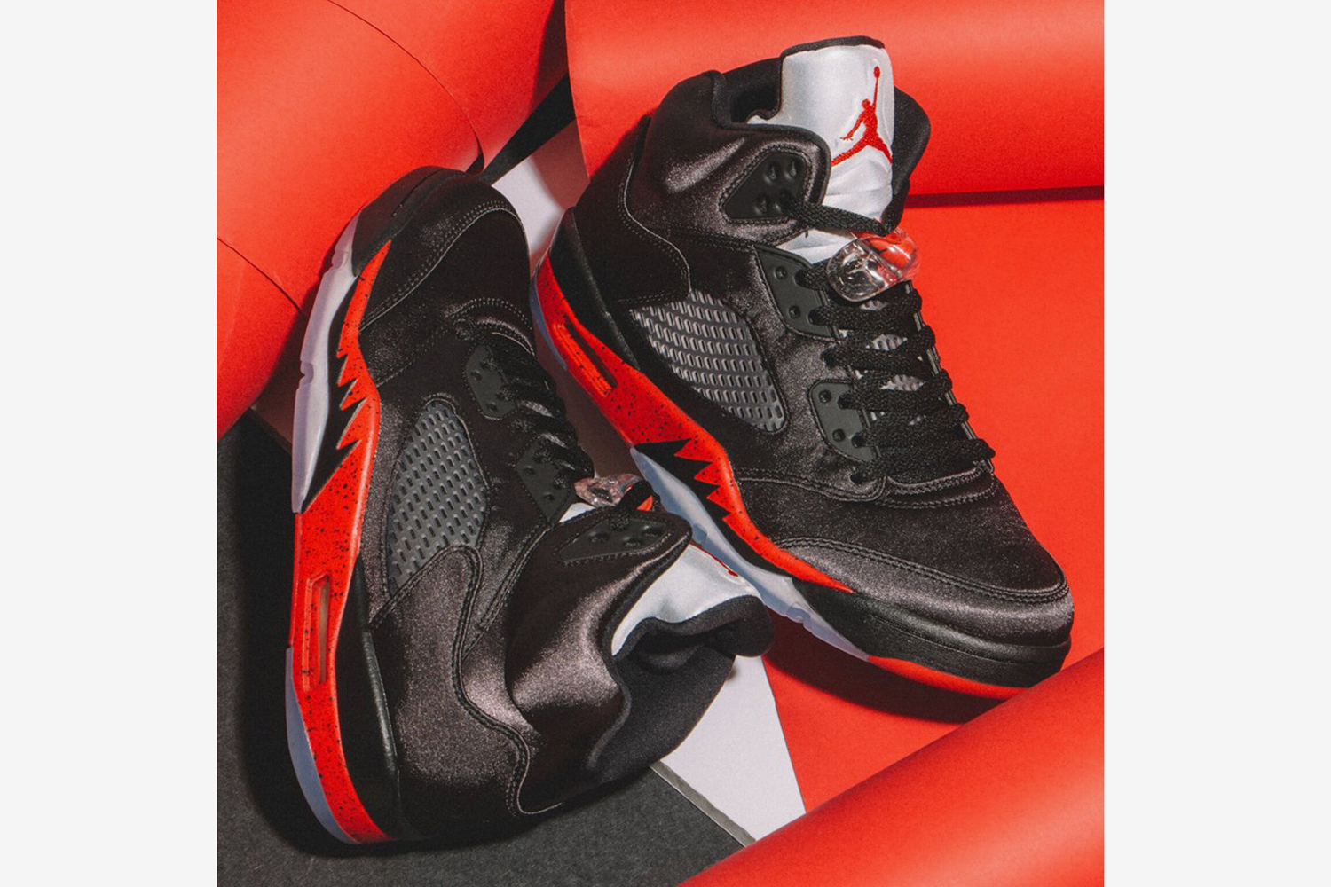 "new product d4887 2ea94 Here s How to Cop the ""Bred"" Air Jordan 5 Satin"