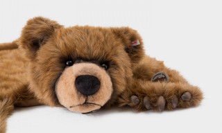 fragment design Turns Steiff's Plush Teddy Bear Into a Rug