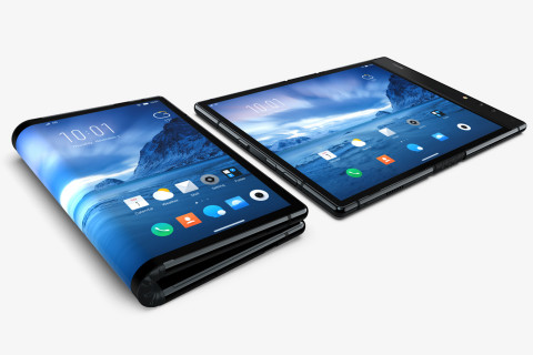 Samsung previews smartphone with screen that folds like book