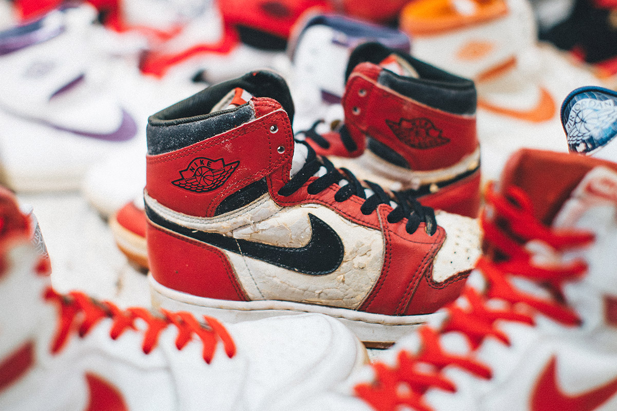 promo code 1937f 7a611 Sneakerhead Dylan Ratner s collection of Nike Air Jordans is pretty  mindblowing. He specializes in OG 1985 Air Jordan 1s, although he also  collects later ...