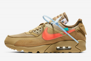 "201040a9aa Here s an Official Look at the OFF-WHITE x Nike Air Max 90 ""Desert Ore"""
