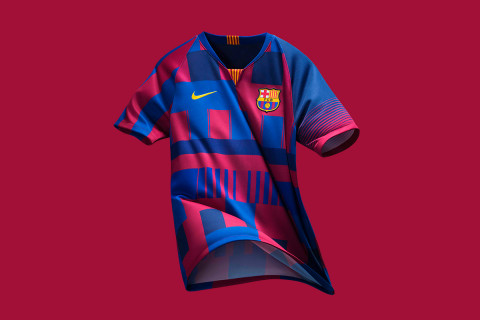 Nike Fc Barcelona Unveil Mash Up Jersey For 20th Anniversary