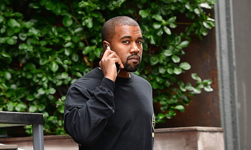 34aa96513339a Kanye West took time away from working on YANDHI to catch a basketball game  on the weekend