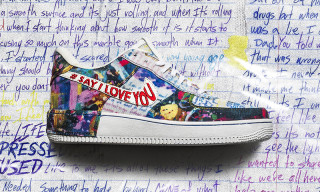 "The Shoe Surgeon Promotes Mental Health With ""Say I Love You"" Air Force 1"
