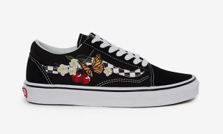 Vans Drops the Old Skool With a Checkered Sidestripe   038  Floral  Embroidery 522e7af343