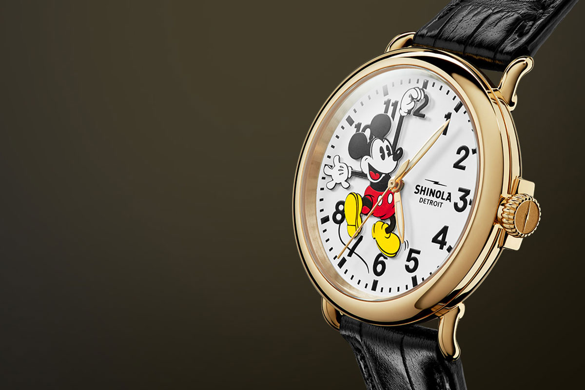 Shinola & Disney Are About to Drop an 18K Gold Timepiece on StockX