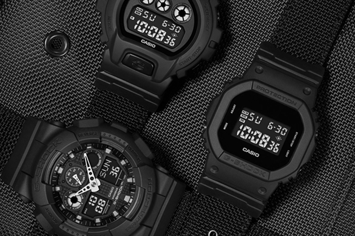 "Casio Drops Super-Slick G-SHOCK Military Series ""Black Out"" Collection"
