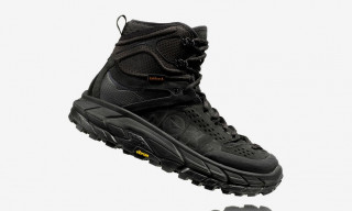 HOKA ONE ONE Drops Stealthy Mountain-Ready Tor Ultra Hi 2 WP