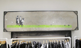Banksy's Original 'Bombing Middle England' Revealed at Jonathan+Olivia