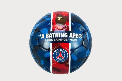 BAPE   Paris Saint-Germain Unveil Co-Branded Football 8305e43f1