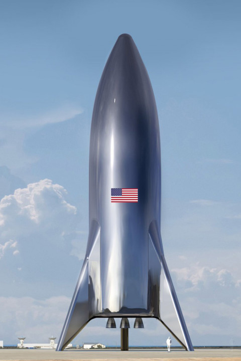 Elon Musk Posts Design Of Spacex S Starship Test Vehicle