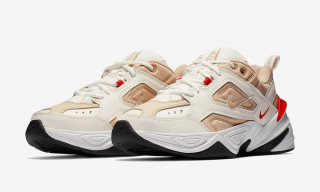 "Nike M2K Tekno Surfaces in ""Desert Ore Habanero Red"" Colorway"