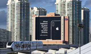 Apple Trolls Google & Amazon With Billboard at CES