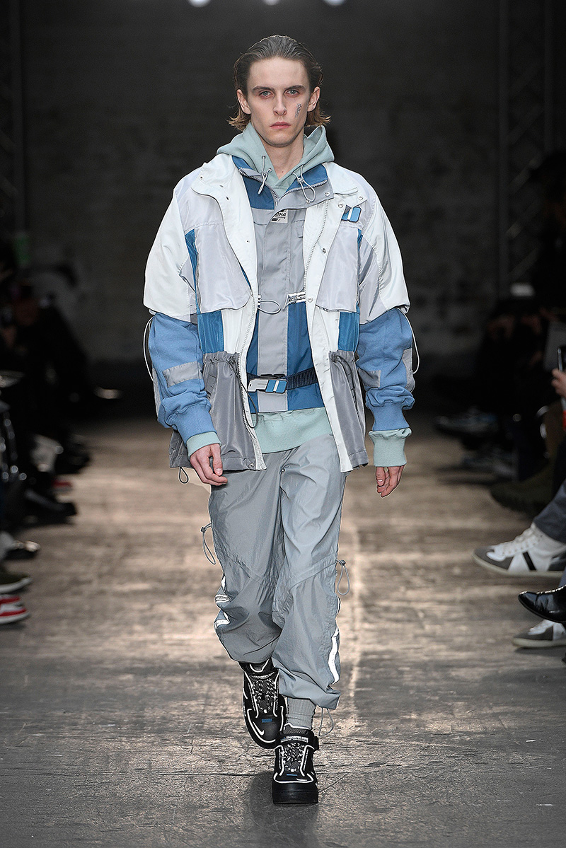 cd03c1ba9f The sneaker was the highlight of a tech-focused collection that included  utility vests, track pants, wind jackets, and side bags.