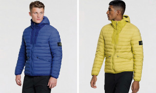 Stone Island Drops Vibrant Stretch Nylon Down Hooded Jacket