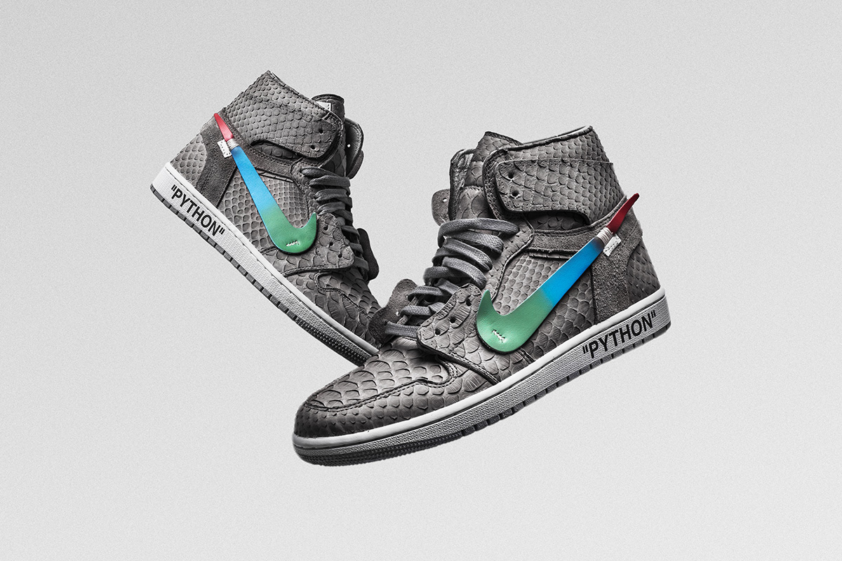 """The Shoe Surgeon s """"Menta"""" Air Jordan 1 Is OFF-WHITE x Nike Gone Luxe f2fdcfd09"""