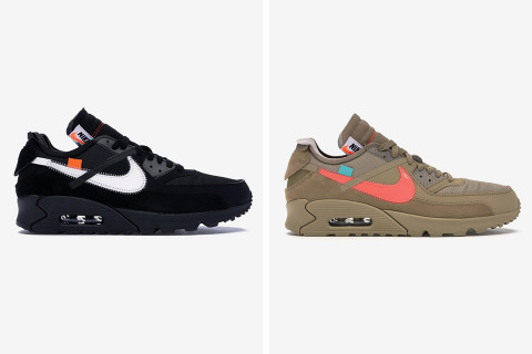 The Sold Out Nike x OFF-WHITE Air Max 90s Come With a Price Premium of  Around 250% b42f2cf264cd