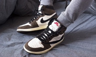 Take Your Closest On-Foot Look Yet at Travis Scott's Reverse-Swoosh Air Jordan 1