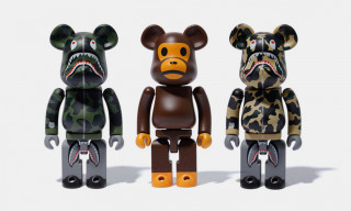 BAPE & Medicom Toy Debut 1st Camo Shark & Baby Milo Be@rbricks