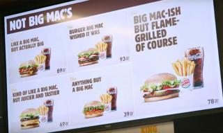 """Burger King Mocks McDonald's With """"Not Big Mac"""" Menu"""