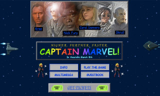 Marvel's '90s-Style 'Captain Marvel' Website Is Giving Us Major 'Space Jam' Vibes