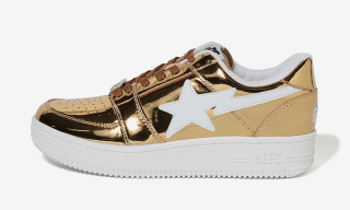 BAPE Drapes the BAPE STA in Shimmering Gold & Silver Foil