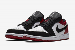 "Nike Cuts the Extremely Popular ""Black Toe"" Air Jordan 1 Into a Low 52a9982e7"