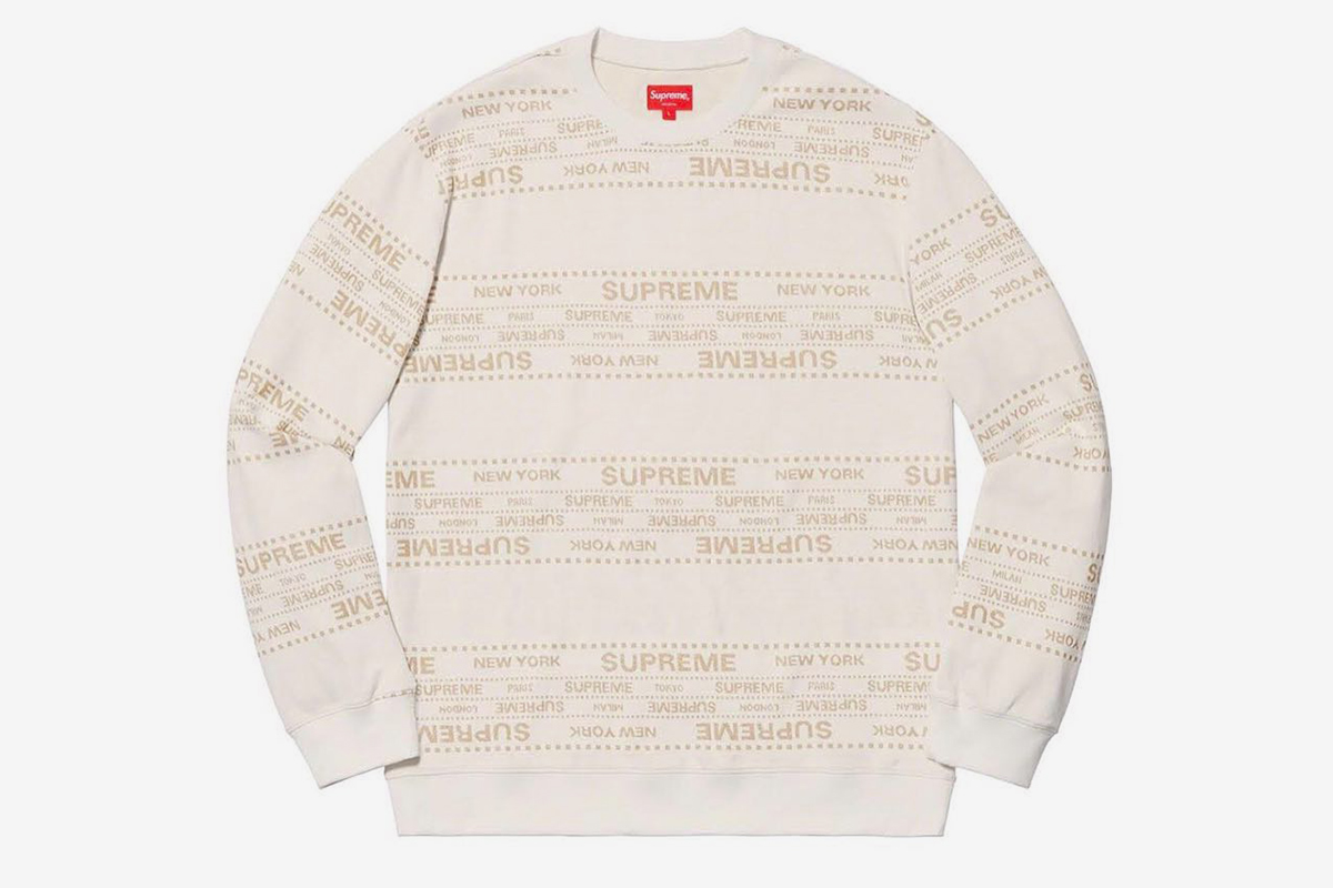 This Supreme SS19 Crewneck Hints at a New Store in Milan