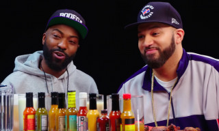"Desus & Mero Share a Funny Story About Kanye West & Explain ""J. Cole Is Trash"" on 'Hot Ones'"