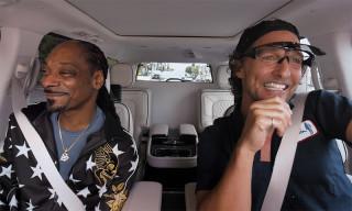 "Snoop Dogg & Matthew McConaughey Rap ""Gin & Juice"" on 'Carpool Karaoke'"