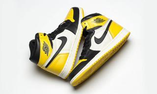 "Jordan Brand Gives the Air Jordan 1 ""Black Toe"" a Yellow Remix"