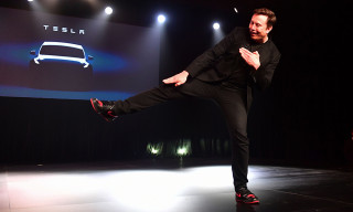 "Elon Musk's Custom Air Jordan 1 ""Tesla"" Eclipsed the Model Y Unveiling"
