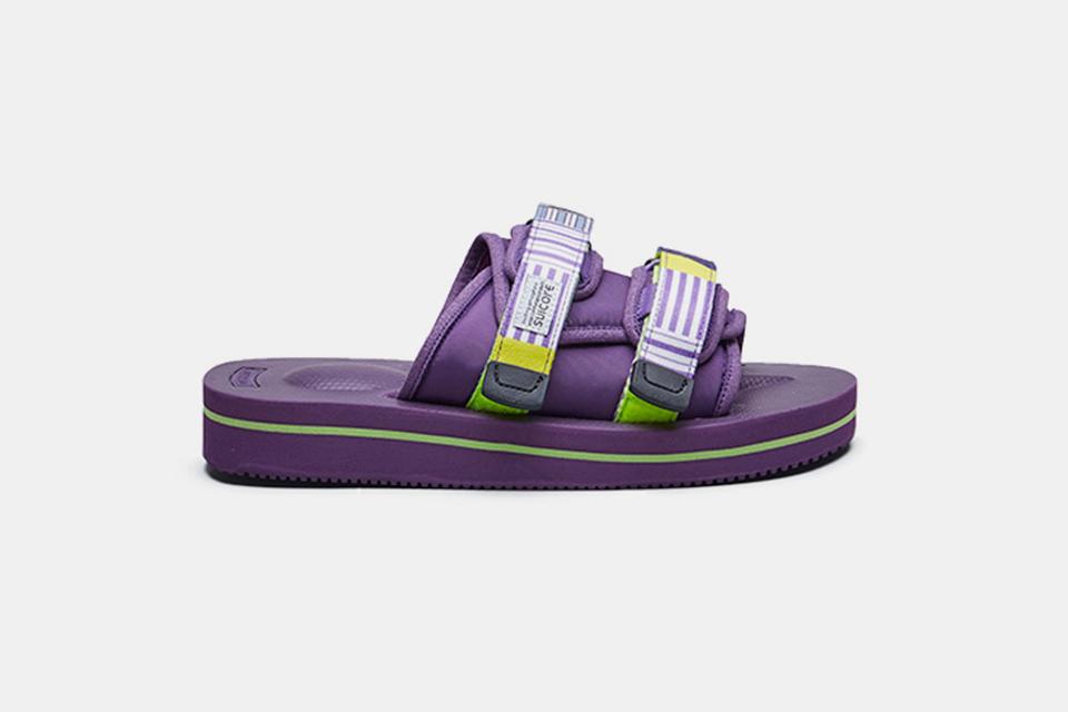 Suicoke's Moto-V & Depa-V2 Sandals Return in Vibrant Neon Purple Colorway