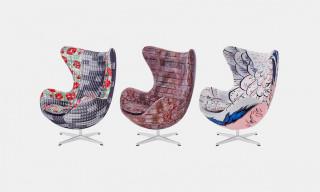 Japanese Designers Create Dynamic Fabrics for Fritz Hansen's Egg Chair